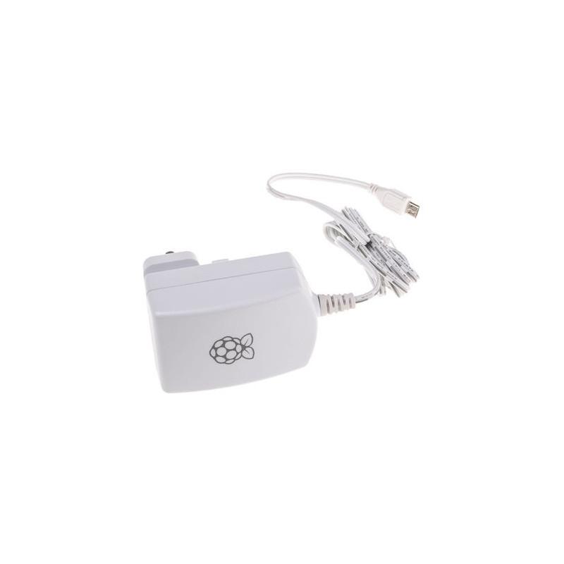 Fuente de alimentación de enchufe universal oficial 5V 2A Micro USB B para Raspberry Pi