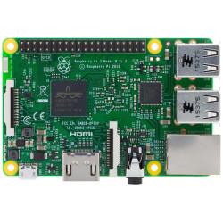 Raspberry PI 3 mod B: cuatro núcleos de 1 GB de RAM, USB, micro SD, HDMI, WiFi, BT, LAN