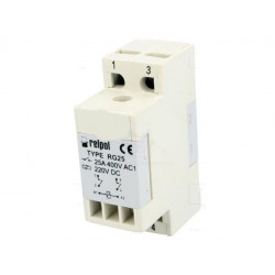 Modulo relè DPST-NO 25A 400V AC DC bobina 220V DC modulo barra DIN