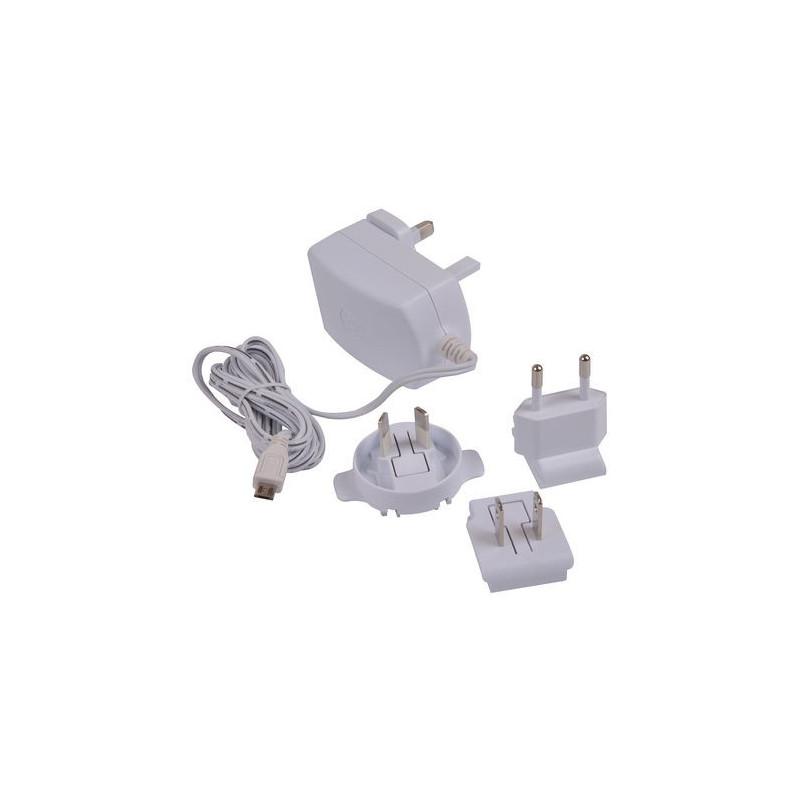 Alimentatore spina universale micro USB B 5,1V 2,5A ufficiale per Raspberry Pi 3