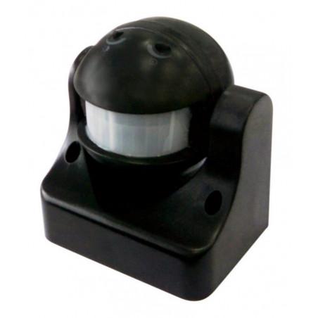 Sensore presenza + crepuscolare + timer accendi luce automatico nero 230V