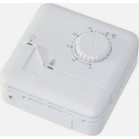 Manual electronic thermostat hot cold heating air conditioning