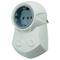 SCHUKO SOCKET WITH INTEGRATED EMI ANTI-INTERFERENCE NETWORK FILTER