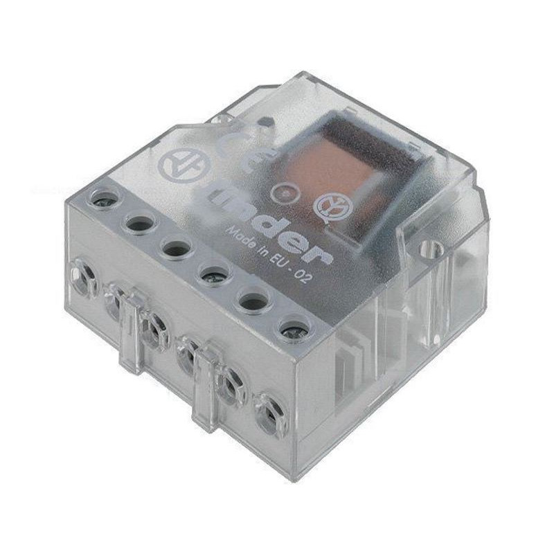 FINDER 26.04 Relé paso a paso 12V AC 2 contactos 10A 250V 4 secuencias