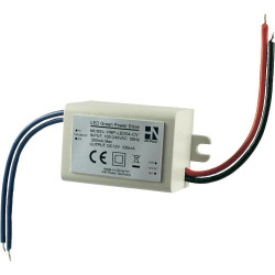 STABILIZED POWER SUPPLY 12V DC 300mA MINIATURIZED RECESSED IDEAL FOR LED