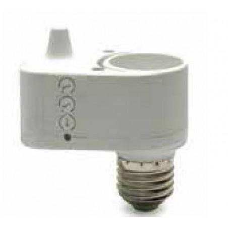 Portalampada accendi luce E27 sensore movimento radar + crepuscolare + timer regolabili