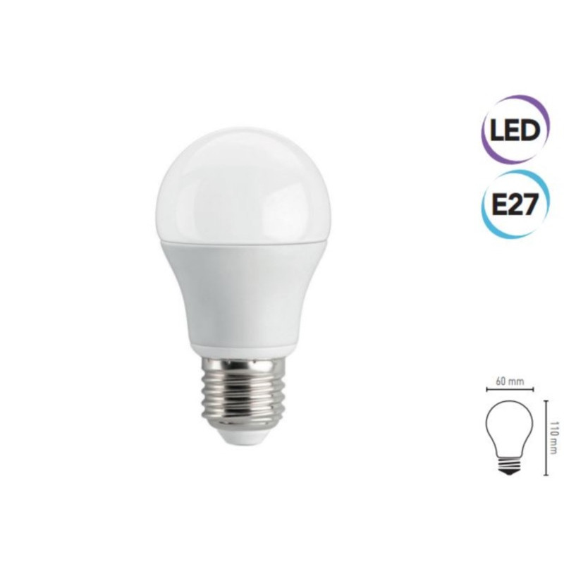 Lampadina LED 6W E27 400 lumen bianco freddo classe A+ Electraline 63241