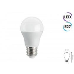 LED bulb 8W E27 560 lumen cool white class A + Electraline 63242