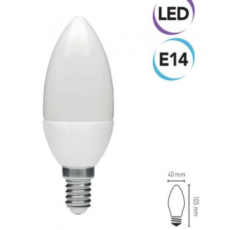 Lampadina LED a candela 7W E14 500 lumen bianco freddo A+ Electraline 63239