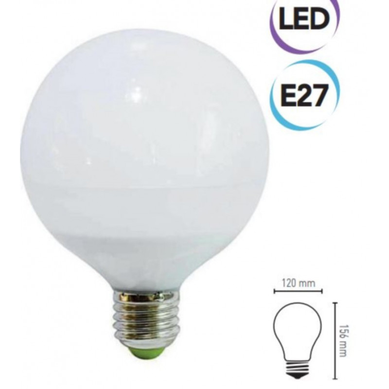 Lampadina a LED 15W E27 1200 lumen bianco caldo A+ Electraline 63305