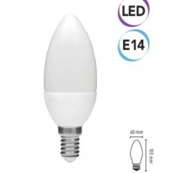 Lampadina LED a candela 7W E14 500 lumen bianco caldo A+ Electraline 63298