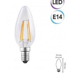 Lampadina LED filam. a cand. 4W E14 470 lumen calda A+ Electraline 63306
