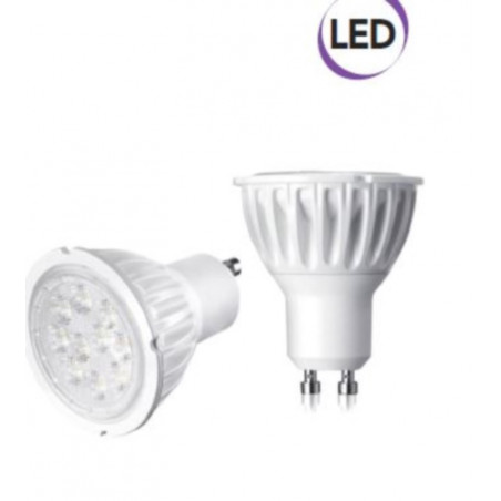 1 x Lampadina Spot LED  7W GU10 500 lumen luce fredda A+ Electraline 63249