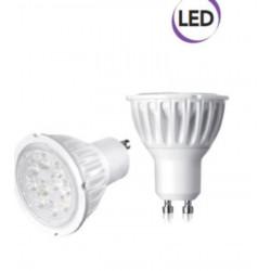 1 x Bombilla LED Spot 5W GU10 400 lúmenes luz fría A + Electraline 63248