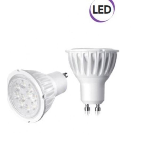 1 x lampadina spot led 5w gu10 400 lumen luce fredda a electraline 63248. Black Bedroom Furniture Sets. Home Design Ideas