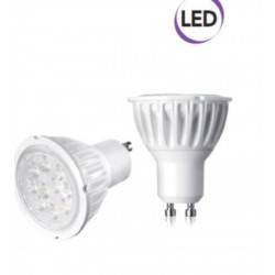 1 x Lampadina Spot LED dimmer. 5,5W GU10 450 lumen luce fredda A+ Electraline 63280