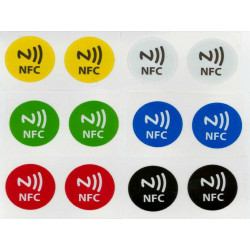 12 writable NFC TAGs compatible with Windows Phone, Android and Blackberry