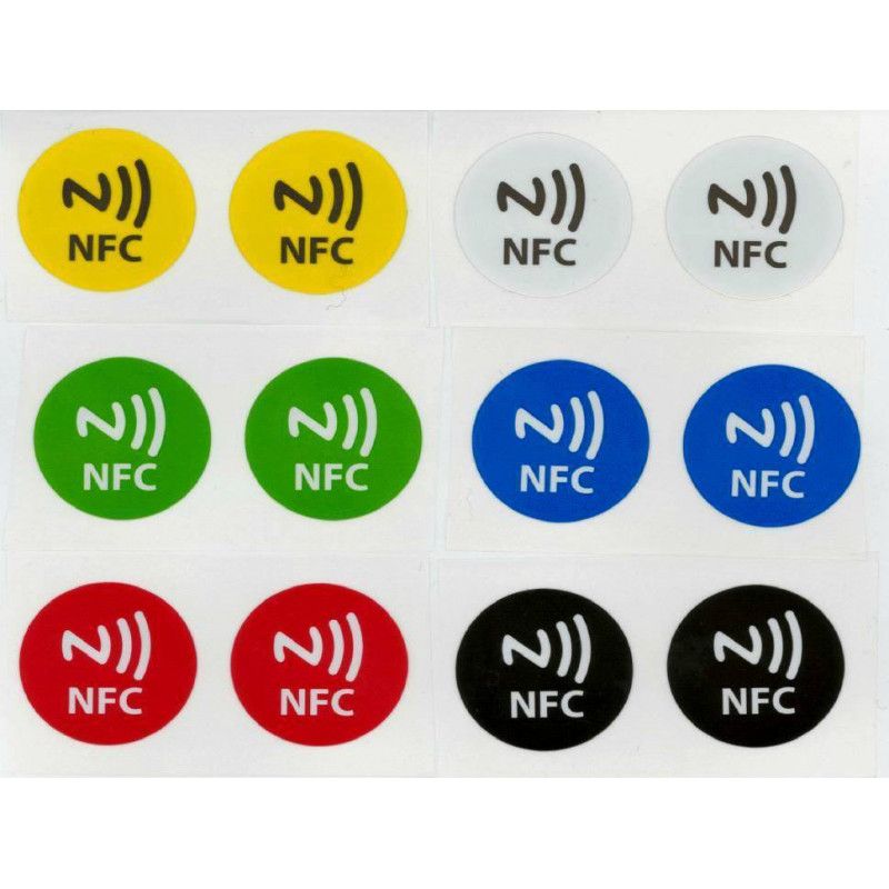 12 TAG NFC scrivibili compatibili con Windows Phone, Android e Blackberry