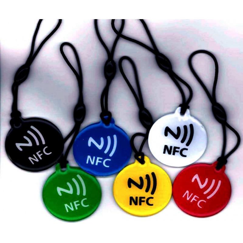 6 TAG NFC scrivibili per Windows Phone, Android, Blackberry formato portachiavi