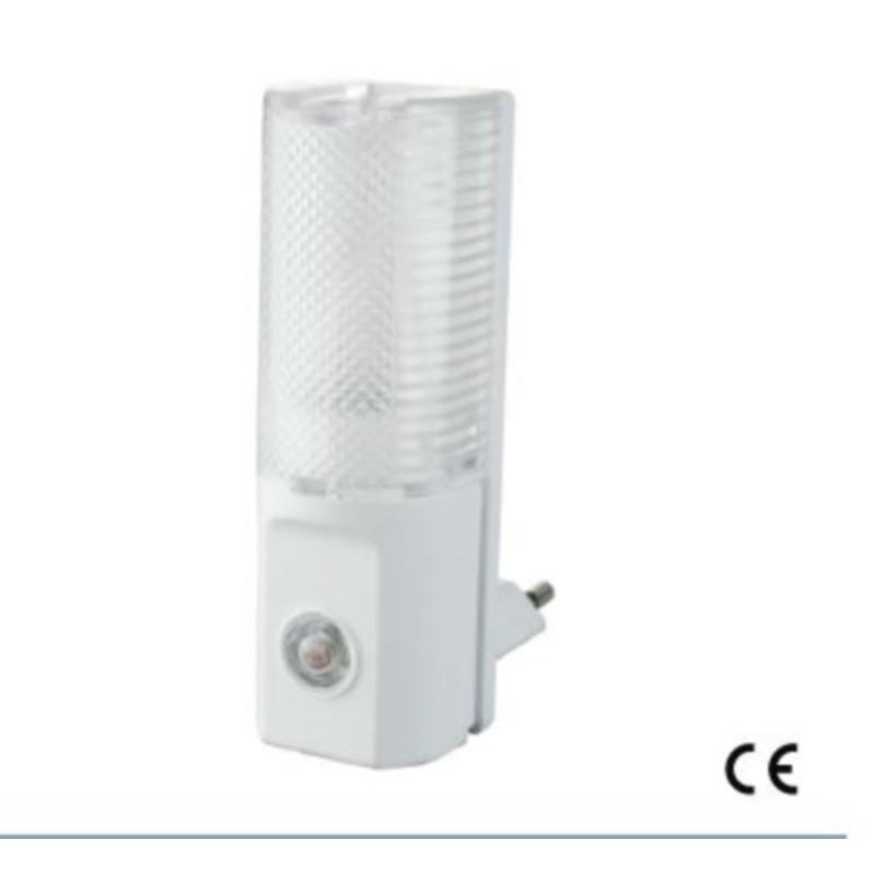 Luce notturna con sensore crepuscolare e spina da 10A Electraline 58312