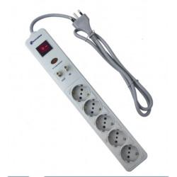 Multipresa protezione sovratensioni e filtro antidisturbo EMI Electraline 62082