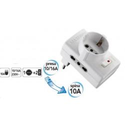 Adaptateur réducteur avec interrupteur de sécurité automatique Electraline 70025