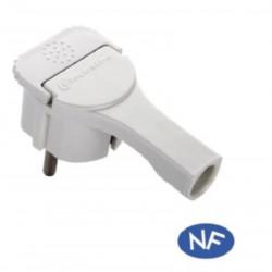 Spina shucko extrapiatta 16A colore bianco electraline 71065